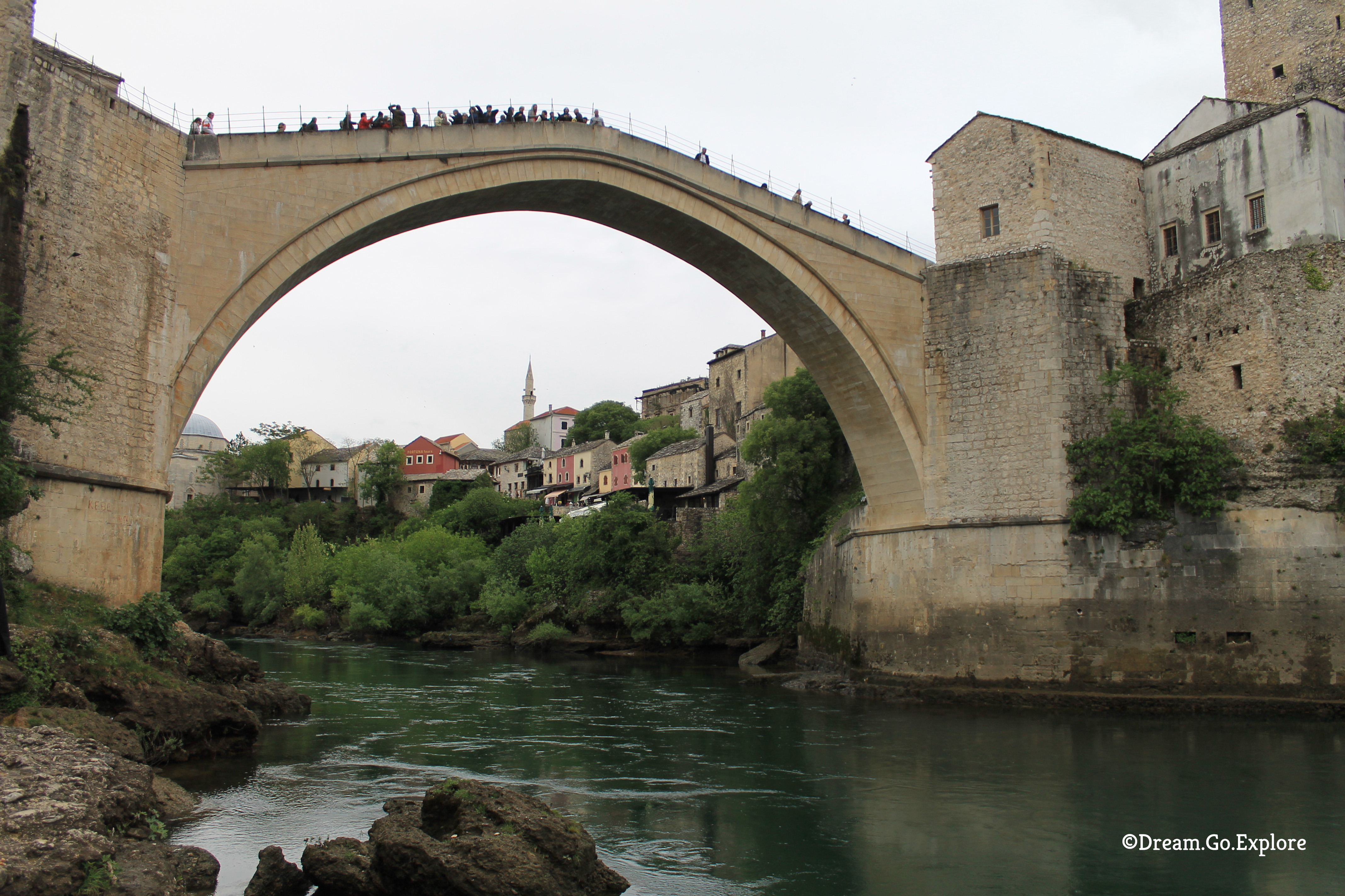 Stari Most – the Old Bridge of Mostar (Bosnia-Herzegovina) – Stari Most – die alte Brücke von Mostar (Bosnien-Herzegowina)